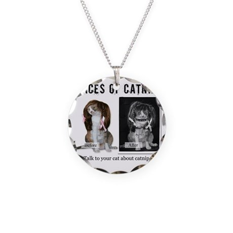 Faces of Catnip 2 Necklace Circle Charm