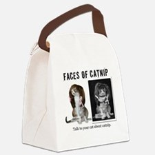 Faces of Catnip 2 Canvas Lunch Bag