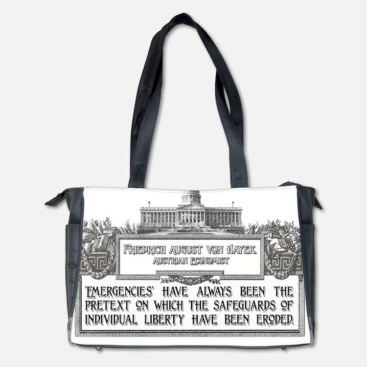 Von Hayek darks Diaper Bag