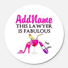 TOP LAWYER Round Car Magnet