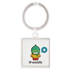 Munchkin GRN-RED Square Keychain