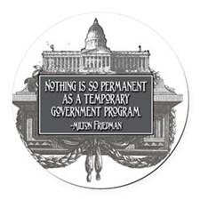 2-Milton Friedman on Government P Round Car Magnet
