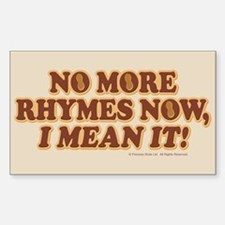 Princess Bride No More Rhymes Decal
