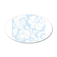 Light Blue and White Damask Wall Sticker