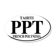 PPTTahiti Oval Car Magnet