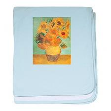 Van_Gogh_Twelve_Sunflowers.jpg baby blanket