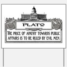 2-Plato on Evil Men lights Yard Sign