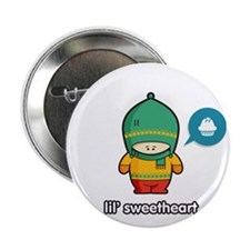 """Sweet Thing GRN-RED 2.25"""" Button"""