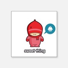 "Sweet Thing PNK Square Sticker 3"" x 3"""