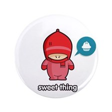 """Sweet Thing PNK 3.5"""" Button"""