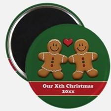 Personalize Gingerbread Couple Magnet
