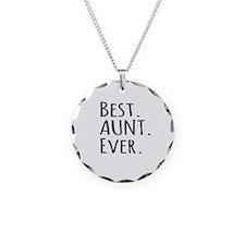 Best Aunt Ever Necklace Circle Charm