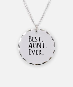 Best Aunt Ever Necklace Circle Charm