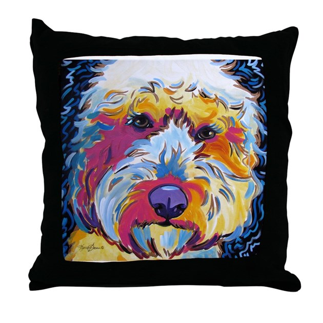 Throw Pillow Home Is Where The Doodle Is : Sunshine The Doodle Throw Pillow by karrengarces