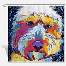 Sunshine The Doodle Shower Curtain