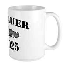 bauer black letters Mug