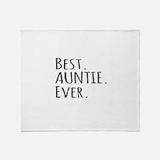 Best Auntie Ever Throw Blanket