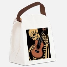 skullguitarcolor2 Canvas Lunch Bag