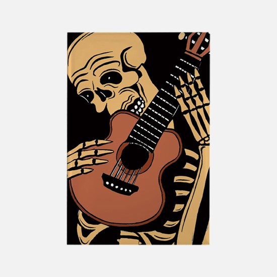 skullguitarcolor2 Rectangle Magnet