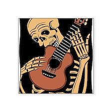 """skullguitarcolor2 Square Sticker 3"""" x 3"""""""