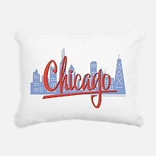 CHICAGO-RED Rectangular Canvas Pillow