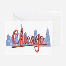 CHICAGO-RED Greeting Card