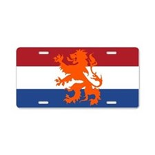 Holland Lion Aluminum License Plate