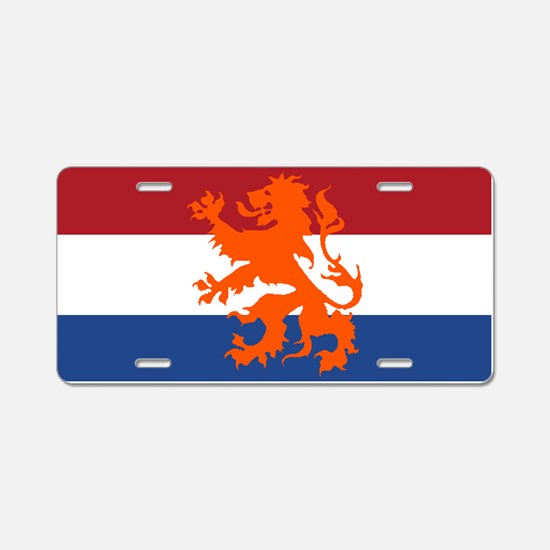 Holland Lion Aluminum License Plate