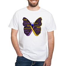 Butterfly Bladder Cancer Ribbon Shirt