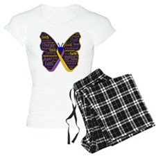 Butterfly Bladder Cancer Ribbon Pajamas