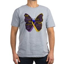 Butterfly Bladder Cancer Ribbon T