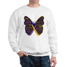 Butterfly Bladder Cancer Ribbon Sweatshirt