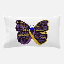 Butterfly Bladder Cancer Ribbon Pillow Case