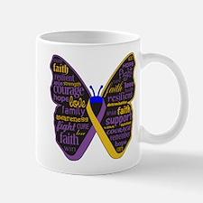 Butterfly Bladder Cancer Ribbon Mug