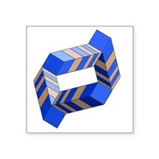 """Impossible Ring Square Sticker 3"""" x 3"""""""
