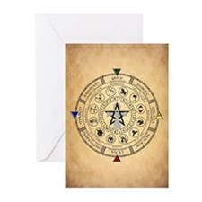 Wheel of the Year Zodiac Sabbats Greeting Cards