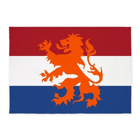 Holland Lion Flag 5 X7 Area Rug By Worldsoccerstore