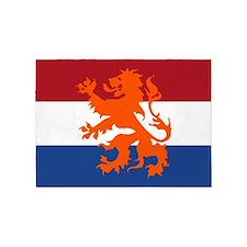 Holland Lion Flag 5'X7'area Rug