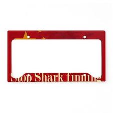 shark finning tee shirt License Plate Holder