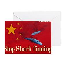 shark finning tee shirt Greeting Card