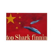 shark finning tee shirt Rectangle Magnet