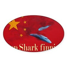 shark finning tee shirt Decal