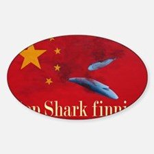 shark finning tee shirt Decal