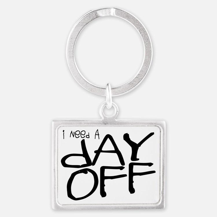 lazy-days-gifts_day-off-gifts Landscape Keychain