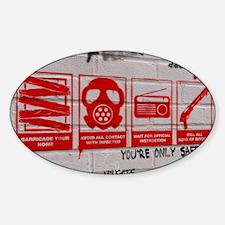 zombie apocalypse poster Sticker (Oval)