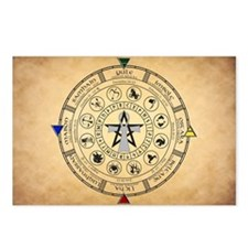 Wheel Of The Year Zodiac Sabbats Postcards (Packag