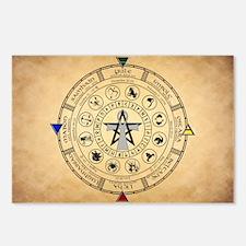 Wheel Of The Year Zodiac Sabbats Postcards (Packag