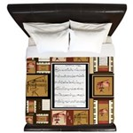 Piano Keys Sheet Music Fat Quarter King Duvet