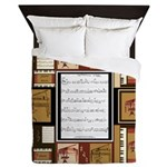 Piano Keys Sheet Music Fat Quarter Queen Duvet