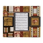 Piano Keys Sheet Music Fat Quarter Throw Blanket